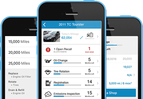 MyCarfax app on phone or desktop